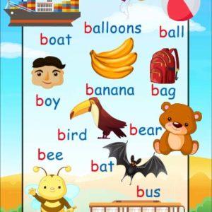 b words