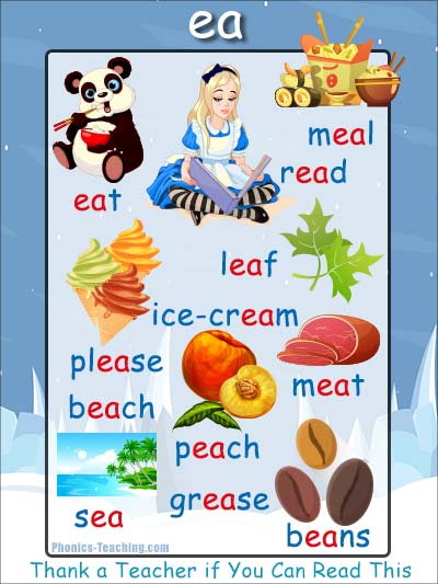 ea phonics sound poster