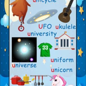 long u phonics sound poster