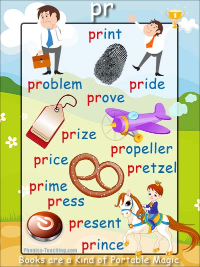 pr words phonics sound poster