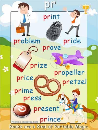 pr words consonant blend