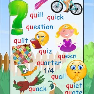 qu phonics sound poster