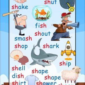 sh words phonics poster