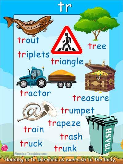 tr words consonant blends
