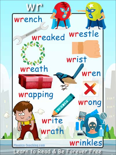 wr words - wr phonics poster - FREE u0026 Printable - Great ...
