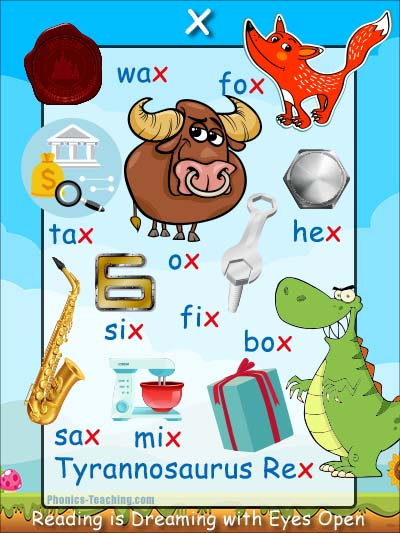 words with the letter x x words phonics poster free amp printable ideal for 25773 | x phonics sound