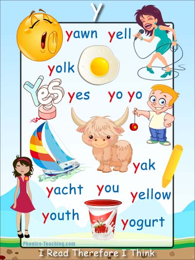 y Words Phonics Poster - Free & Printable - Ideal for ...