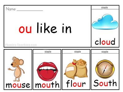ou Phonics Poster - ou wordlist - ou spelling list - ou word ...