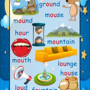 ou words phonics poster