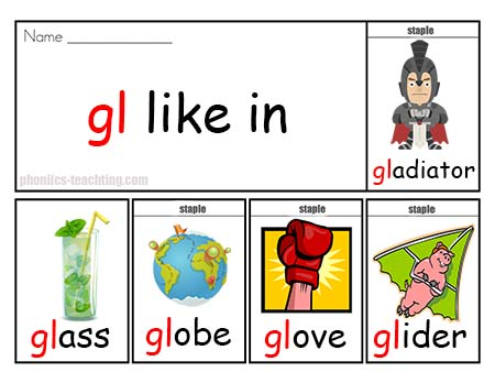 gl words flip book