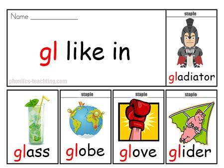 gl words flip book