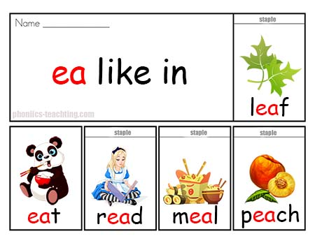 Phonics Flip Book - ea words - Guided Reading Phonics Flip ...