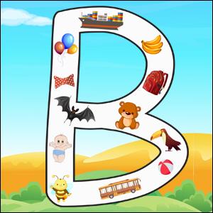 Capital Letter B poster
