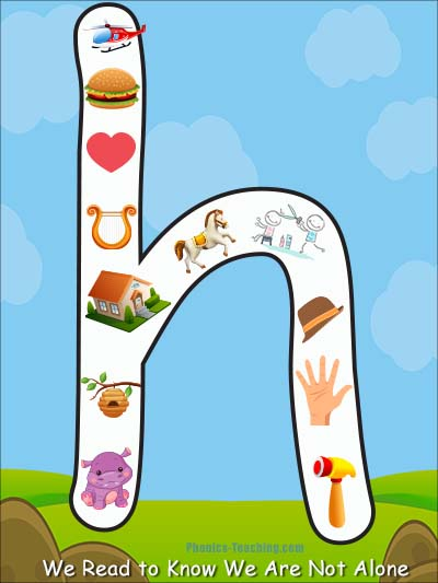 Lowercase Letter h Poster - Free & Printable Lowercase h - Alphabet Chart