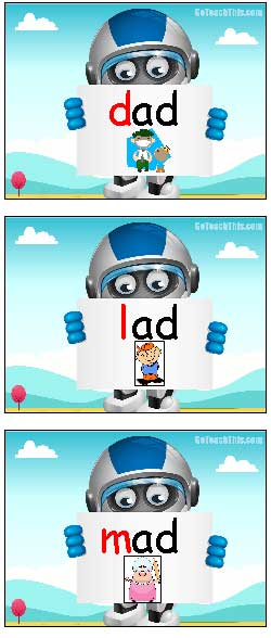 Ad Word Family Free Interactive Powerpoint Onset