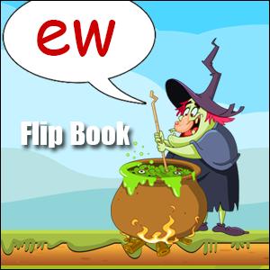 Flip Book ew Phonics poster