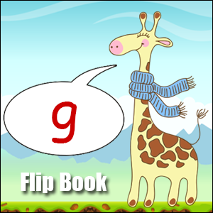 Flip Book soft-g Phonics poster