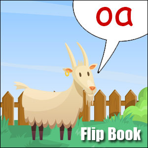 Flip Book oa Phonics poster