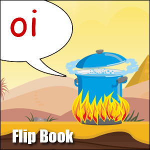 Flip Book oi Phonics poster