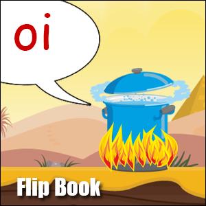 Flip Book oi Phonics poster