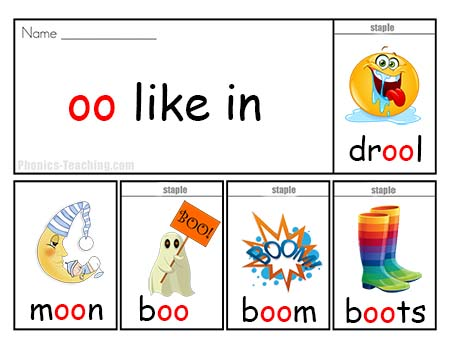 Long oo Word List - Flip Book - Ideal for Phonics Practice ...