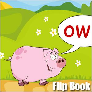 Flip Book ow Phonics poster