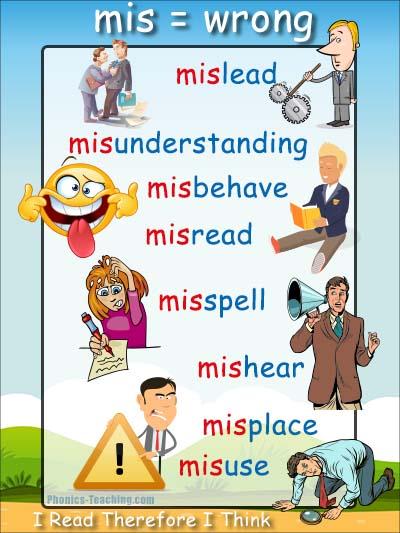 mis words - prefix poster