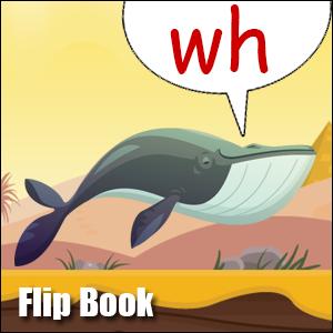 Flip Book wh - Phonics poster