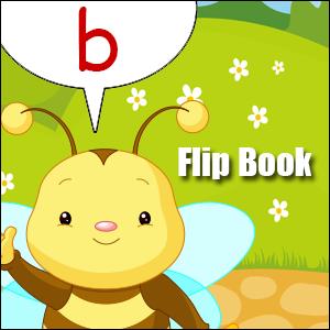 b words flip book