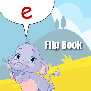 e words flip book