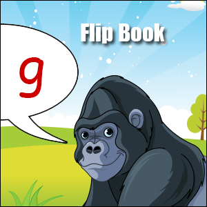 g words flip book