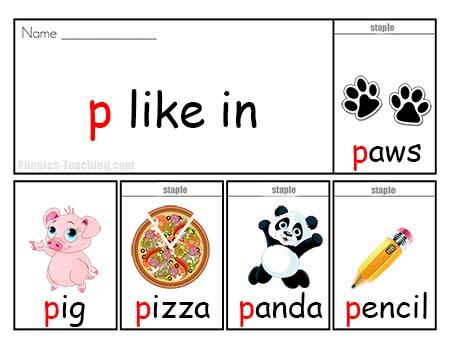 p words flip book