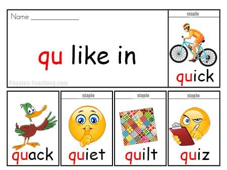 q words flip book