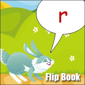r words flip book