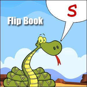 s words flip book