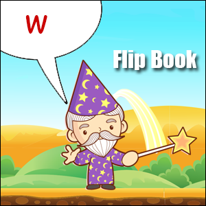 w words flip book