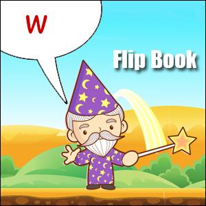 w words flip book