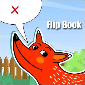 x words flip book