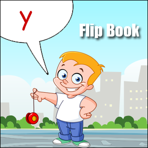 y words flip book