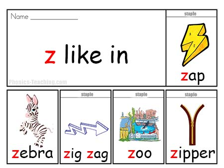 z words flip book