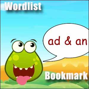 ad an wordlist bookmark