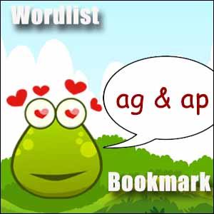 ag words & ap words
