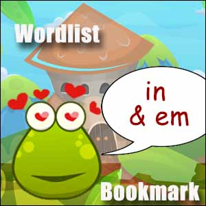 in and im wordlist bookmark