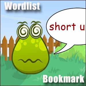 short u wordlist