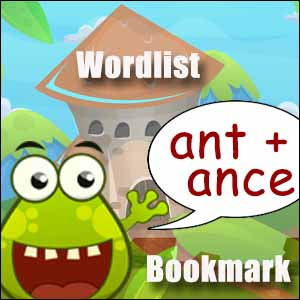 ant words & ance words