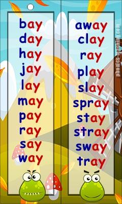 ay words
