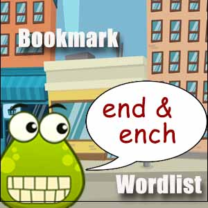 ench and end word list