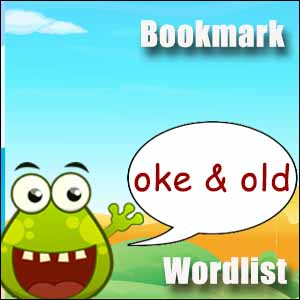 old words oke words