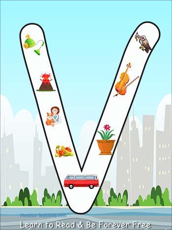 alphabet poster V