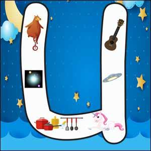 letter u poster